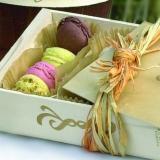 Gift box with delicious sweets